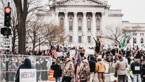 Wisconsinites Storm The Capitol In Protest: We're Done Staying Home