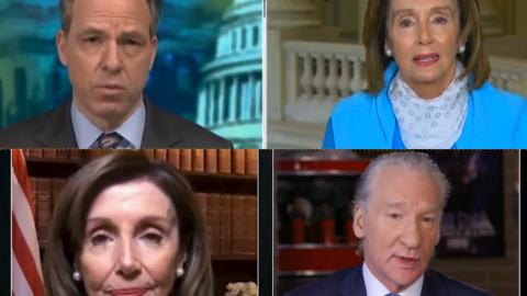 Bill Maher Presses Nancy Pelosi, Jake Tapper Lets Her Rant