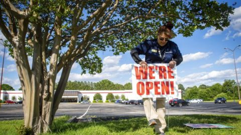 Businesses open despite state lockdown orders