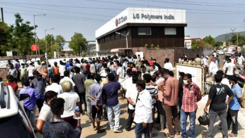 Protests break out after Indian chemical plant leak kills 12