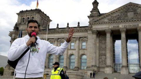 German anti-lockdown demonstrations mark 3rd weekend in a row