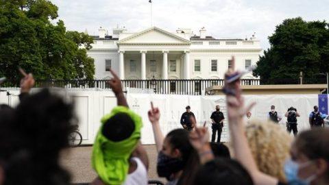 White House goes into lockdown after protests erupt in D.C.