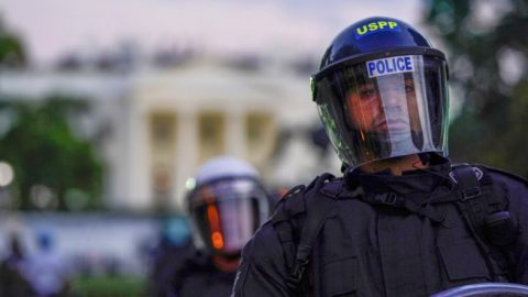 D.C. police fire tear gas, rubber bullets amid riots