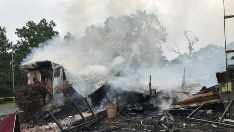 Authorities investigate Miss. church fire as possible arson