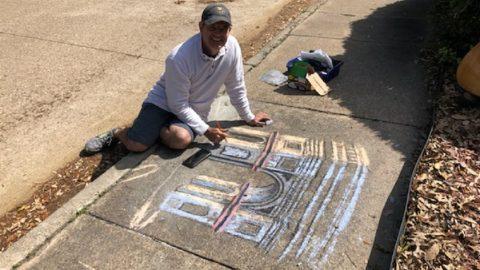 Dallas Man Brings Joy To His Locked-Down Neighborhood With Chalk Art