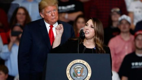 RNC chairwoman optimistic of Trump campaign, slams media for lack of coverage over Biden allegations