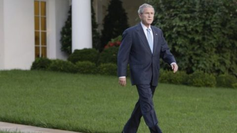 Fmr. President Bush records message of support for Americans
