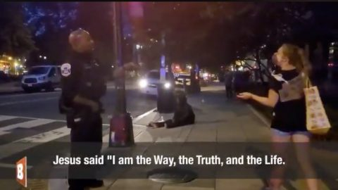 'Woke' White Woman Verbally Assaults Black Police, Claims Officer With Black Wife 'Could Still Be Racist'