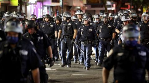 Law enforcement officials in N.Y. prepare for another night of violent protests