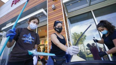 Nationwide clean up efforts bring residents together, following a weekend of violent protests