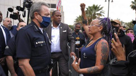 LAPD holds vigil in honor of George Floyd