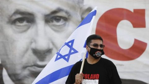 Israeli protesters denounce prime minister's annexation plan