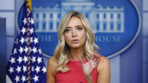 White House press secy. McEnany says President Trump soundly rejects calls to defund police