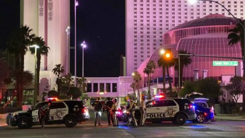Las Vegas Police officer paralyzed after being shot at protest