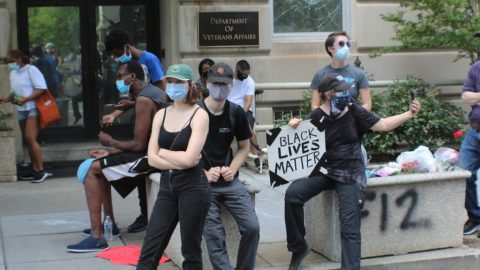 A Peaceful Protest Between Riots In D.C.