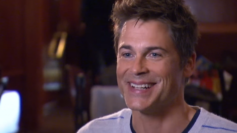 Rob Lowe 'Literally!' Loves Talking With Chris Pratt On His New Podcast