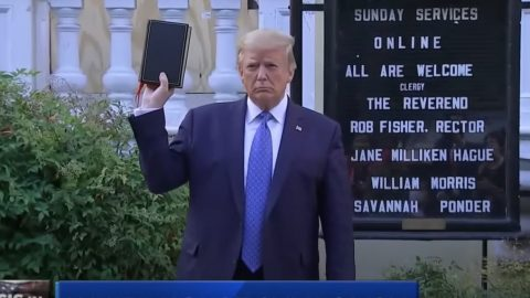 Trump Pays Homage To Church Burned In Riots With Bible In Hand