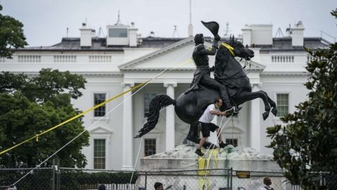 Four Men Charged For Trying To Destroy Andrew Jackson Statue