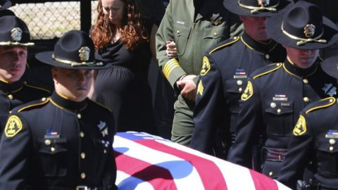 Hundreds gather to honor the late Sgt. Damon Gutzwiller who lost his life in the line of duty