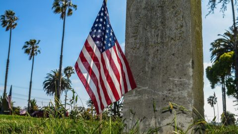 Unknown Arsonists Set American Flags On Fire In California Neighborhood