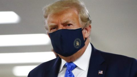 President Trump encourages all Americans to wear facial coverings when social distancing is not possible