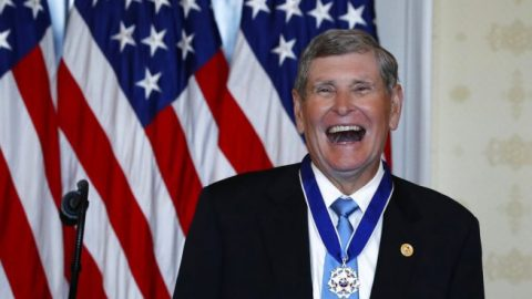 President Trump awards Medal of Freedom to Olympian Jim Ryun