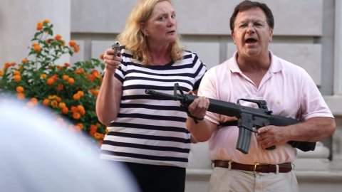 Gun-Wielding Couple Realized The Only One Who Will Protect You Is You