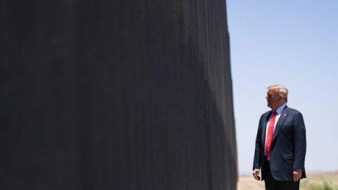 President Trump touts progress made on southern border wall