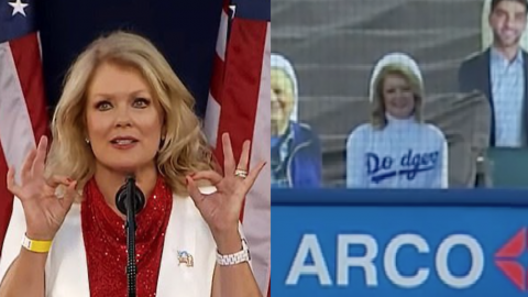 The Twitter Mob Wants Mary Hart's Cutout Removed From Dodger Stadium