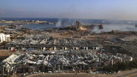 Drone footage shows devastation left behind in Beirut